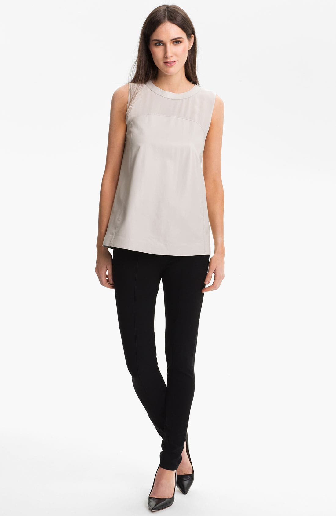 Alternate Image 4  - Lafayette 148 New York Matte Jersey Slim Pants
