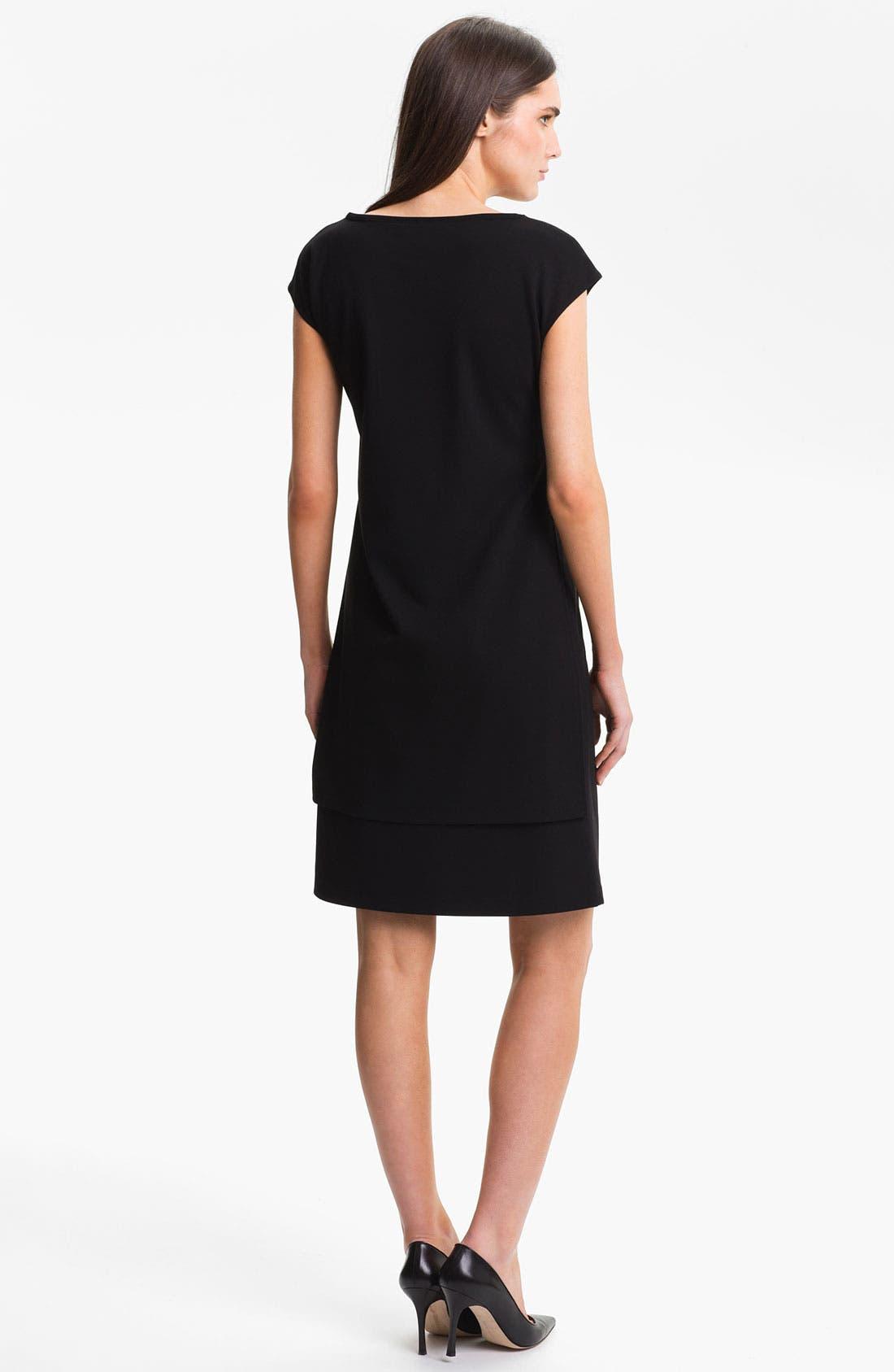 Alternate Image 2  - Lafayette 148 New York  Layered Punto Milano Dress