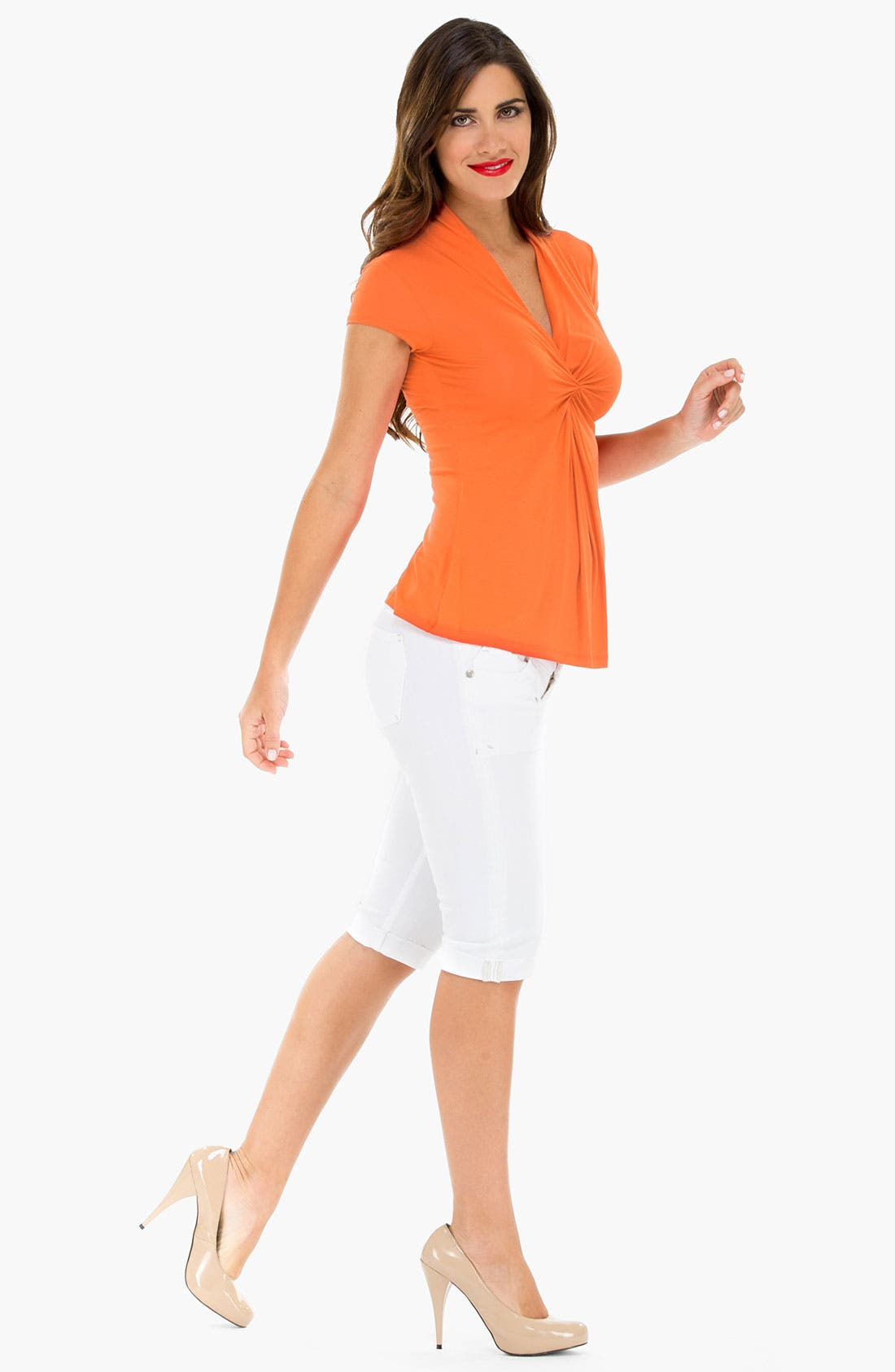 Alternate Image 2  - Olian Cinch Front Maternity Top