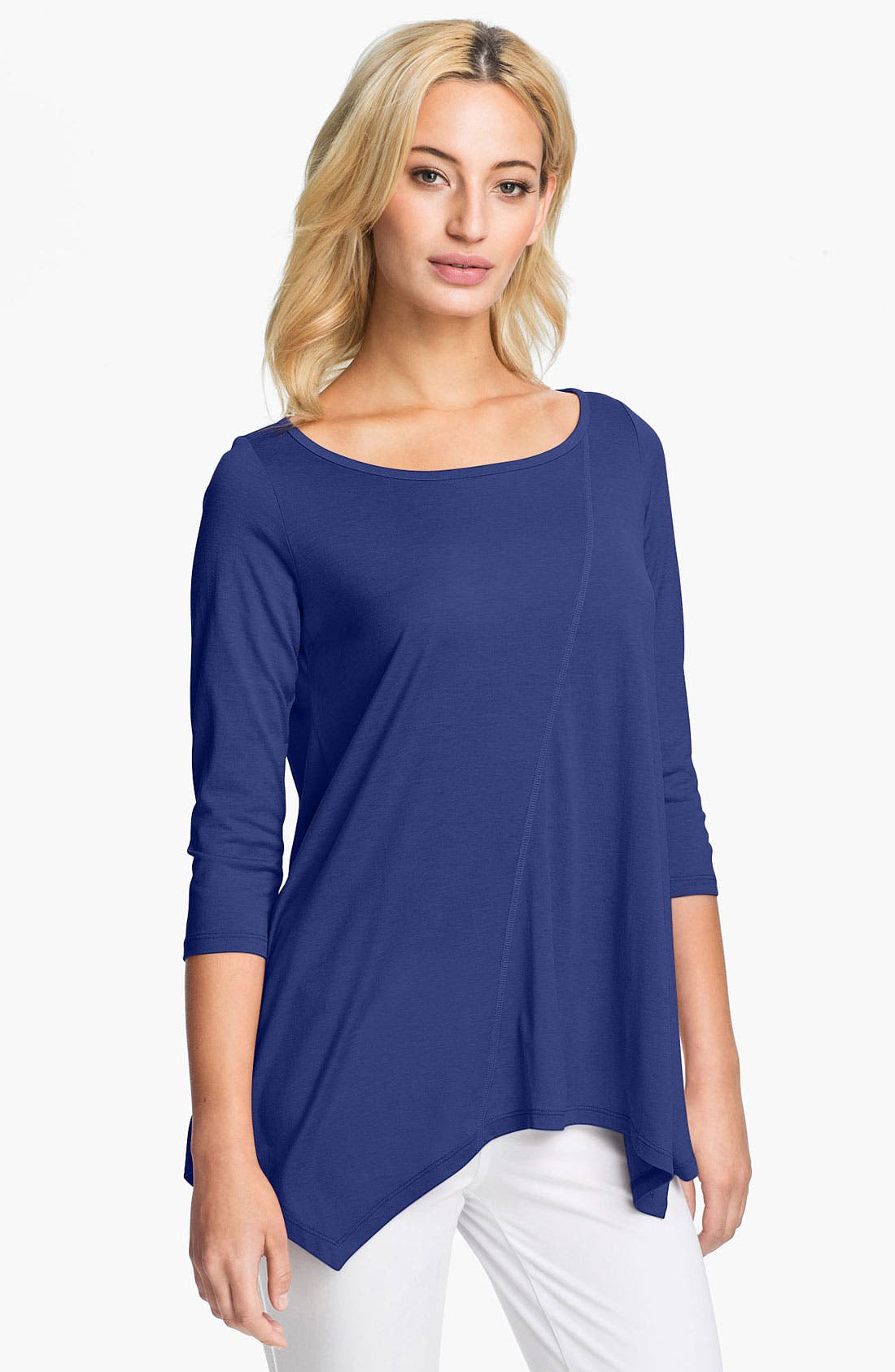 Main Image - Eileen Fisher Silk & Cotton Jersey Top