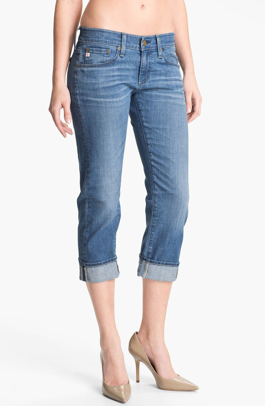 Main Image - AG Jeans 'Tomboy' Crop Stretch Jeans (17-Year)