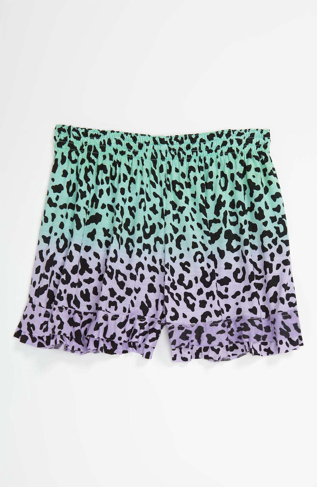 Alternate Image 1 Selected - Flowers by Zoe Leopard Print Shorts (Big Girls)