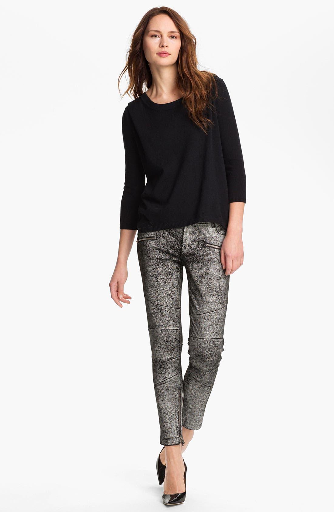 Main Image - Skaist-Taylor Back Zip Wool Blend Sweater