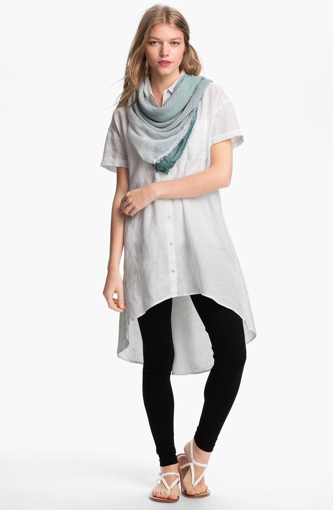 Alternate Image 2  - Eileen Fisher Ombré Weave Square Scarf