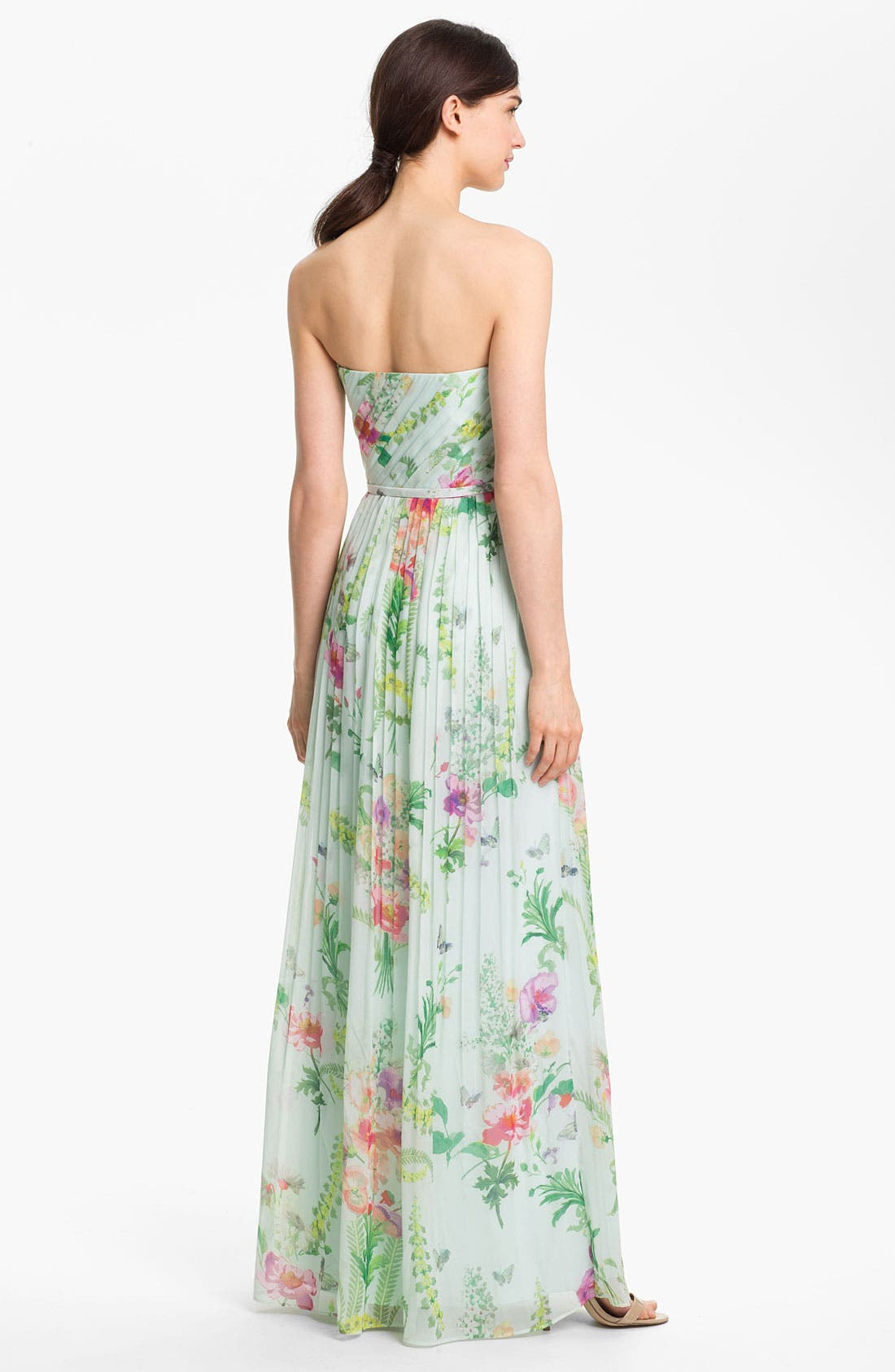 Alternate Image 2  - Ted Baker London 'Wallpaper' Pleated Maxi Dress (Online Only)