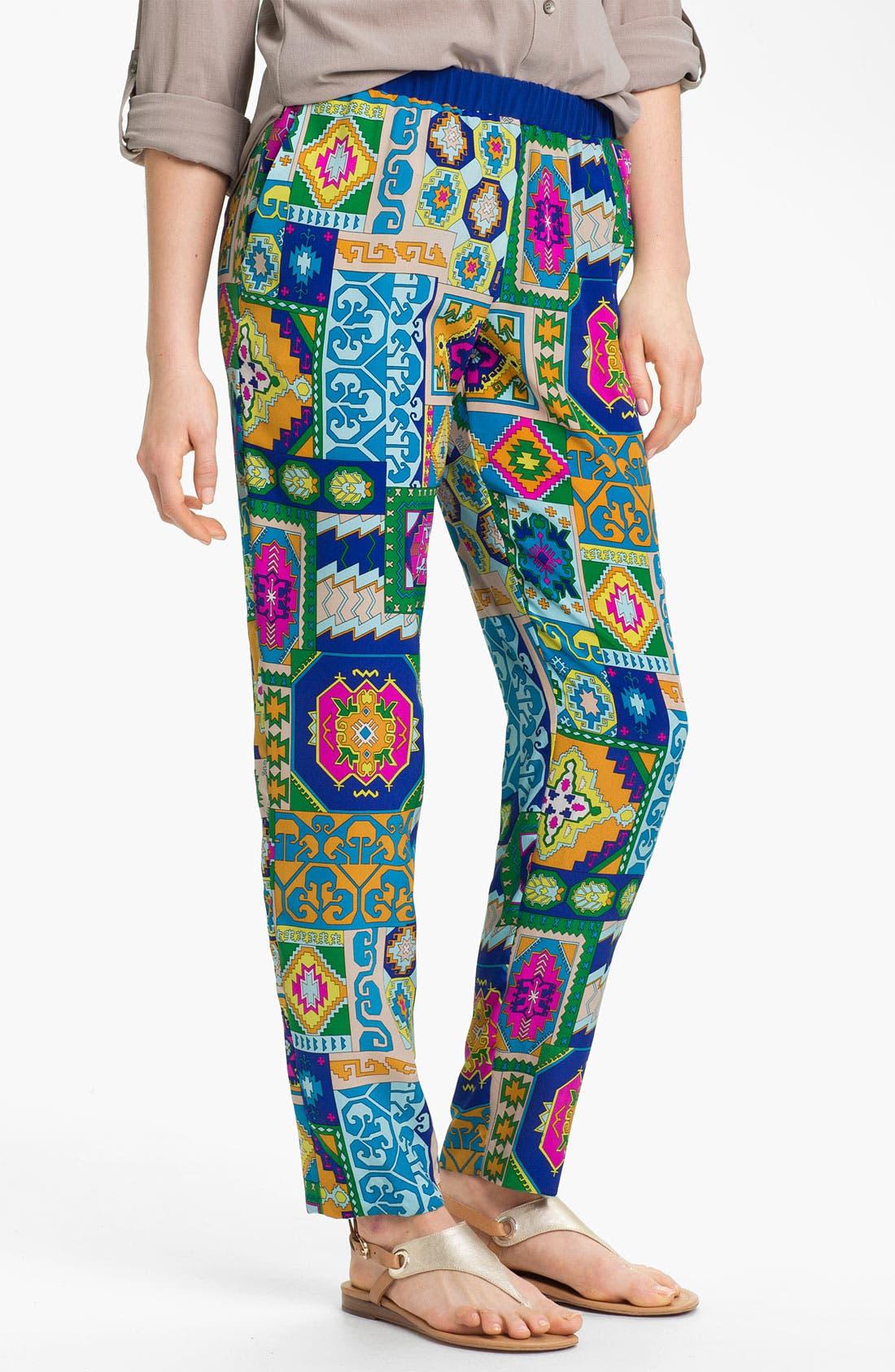 Alternate Image 1 Selected - Trina Turk 'Lo-Fi' Silk Pants