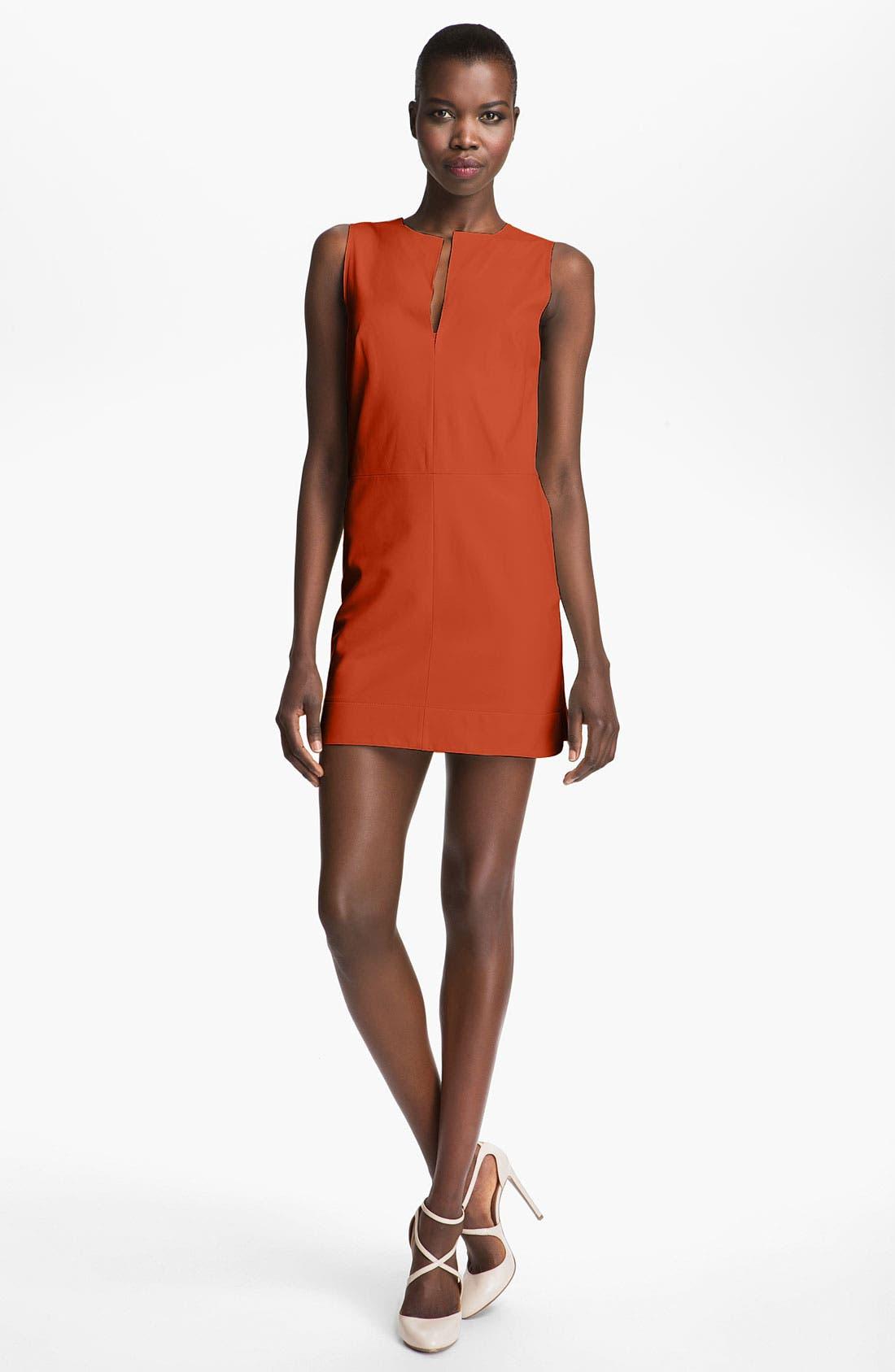 Alternate Image 1 Selected - Robert Rodriguez Leather Minidress