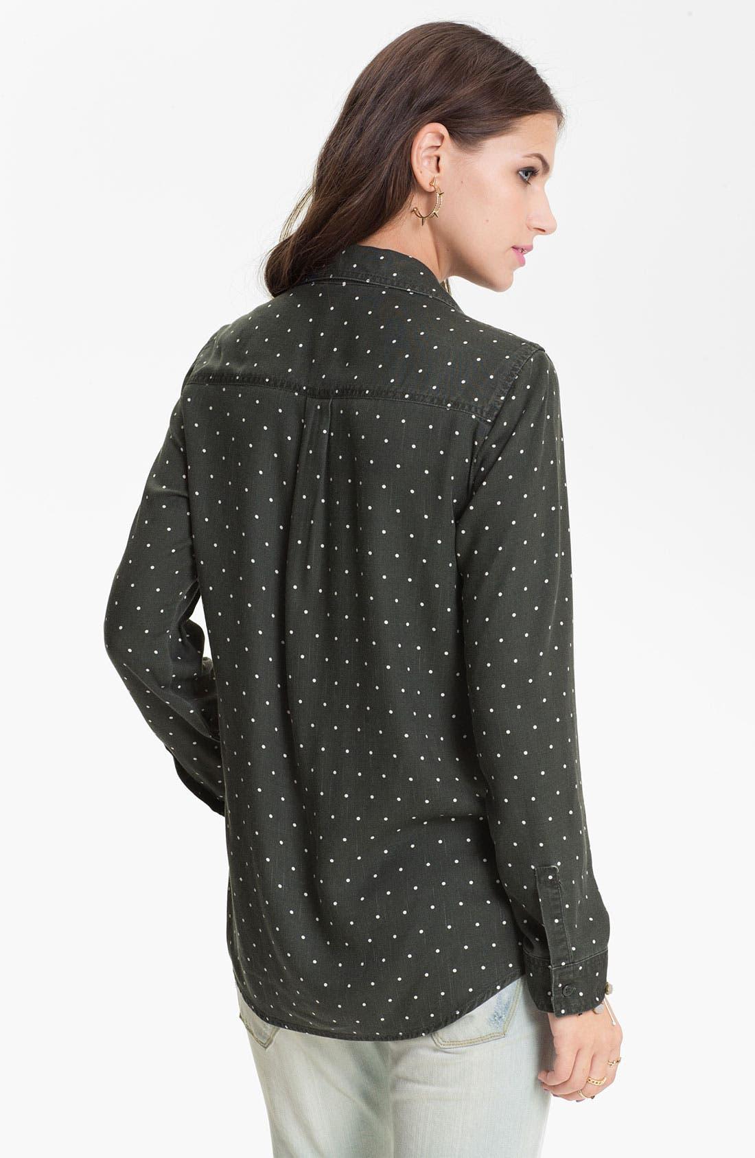 Mini Dot Menswear Shirt,                             Alternate thumbnail 2, color,                             Simplest Dot Black