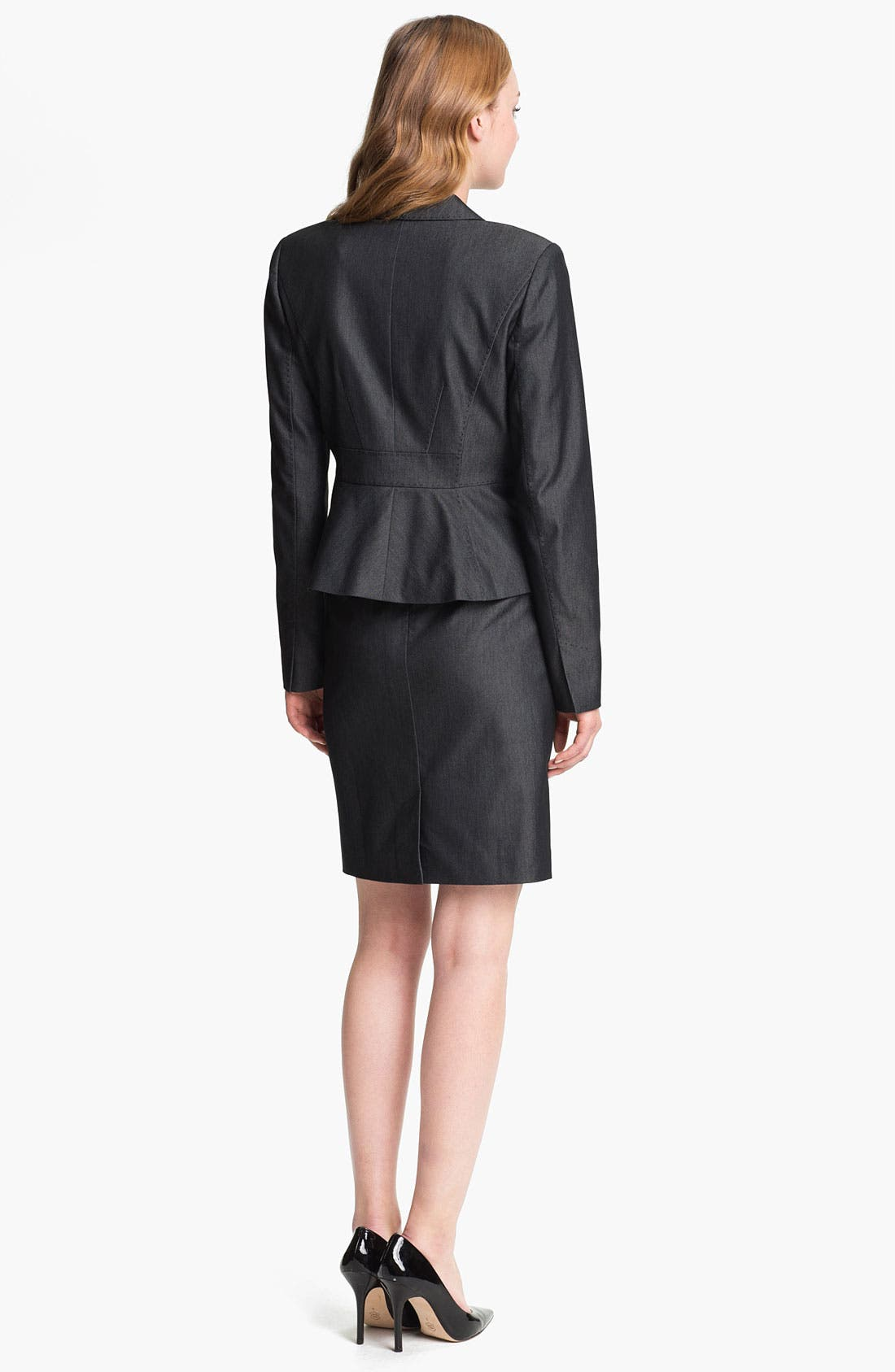 Alternate Image 4  - Halogen® Black Denim Suit Skirt