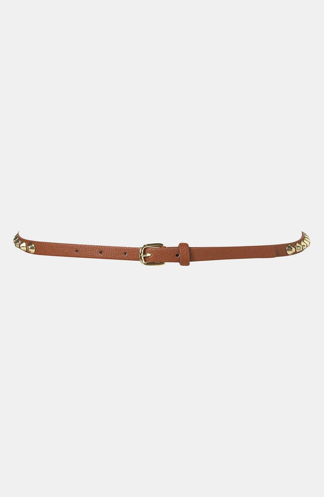 Alternate Image 1 Selected - Topshop 'Grunge' Studded Belt
