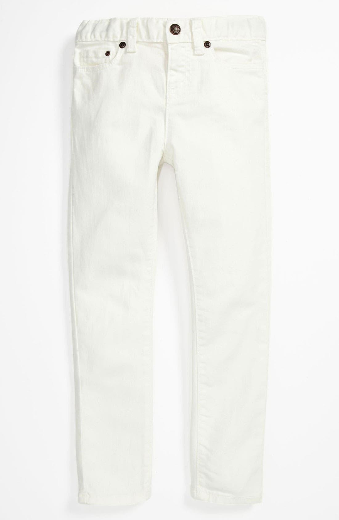Alternate Image 2  - Tucker + Tate Tank Top, Jacket & Skinny Jeans (Big Girls)