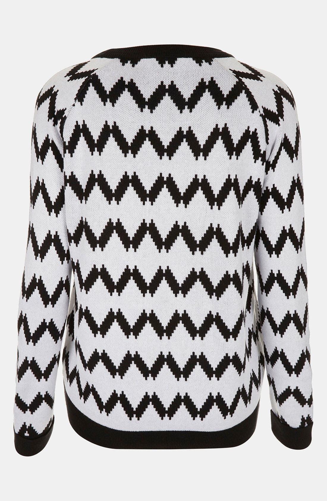 Alternate Image 2  - Topshop Embroidered Tiger Sweater