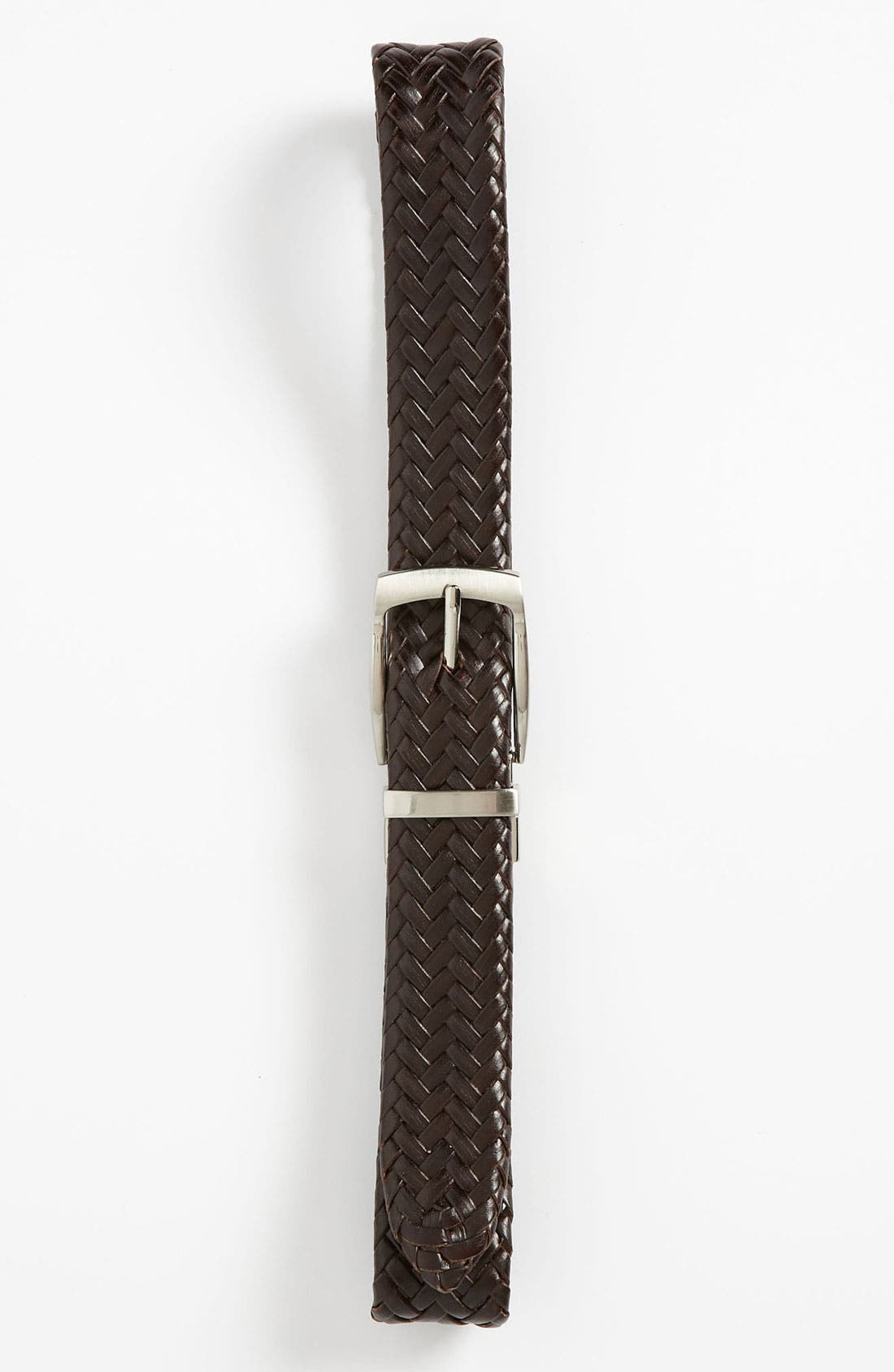 Alternate Image 1 Selected - Joseph Abboud Reversible Braided Belt (Big Boys)
