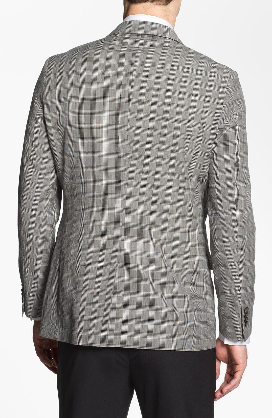 Alternate Image 2  - Michael Kors Trim Fit Plaid Wool Sportcoat