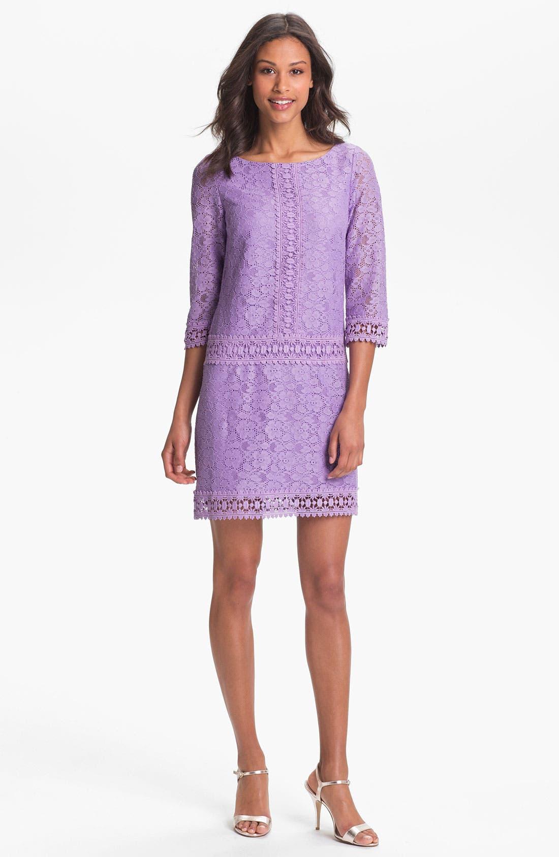 Main Image - Laundry by Shelli Segal Lace Shift Dress