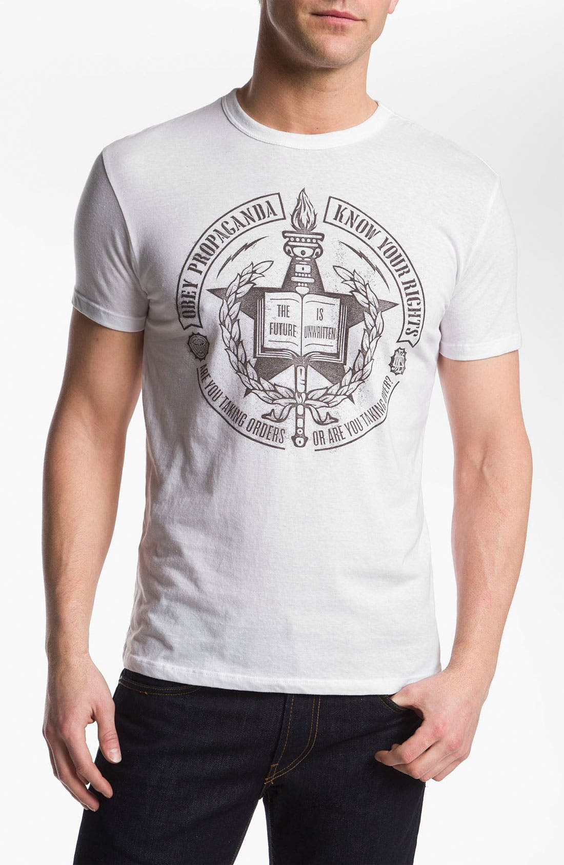 Alternate Image 1 Selected - Obey 'Know Your Rights Wreath' T-Shirt