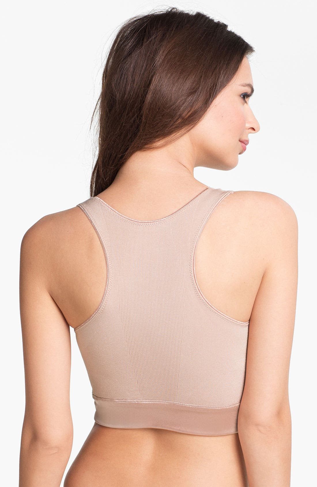 Alternate Image 2  - SPANX® 'Slimmer & Shine All-Around Racerback' Crop Tank