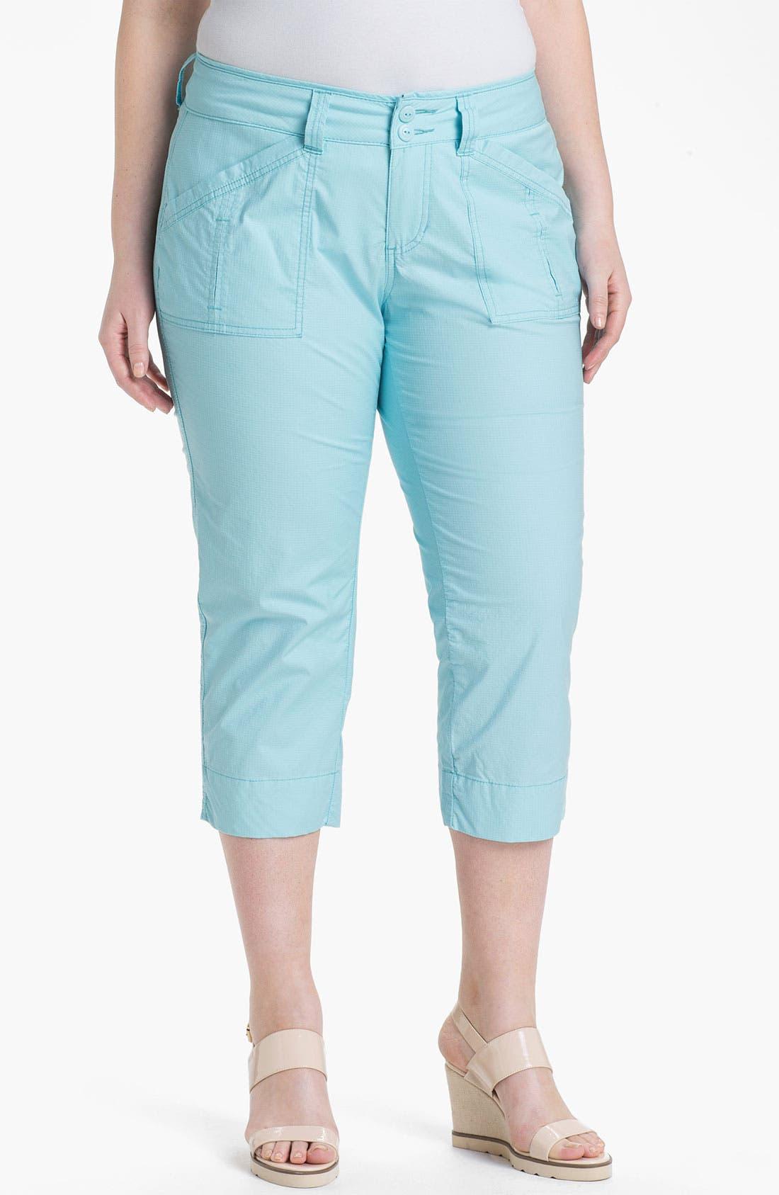 Alternate Image 1 Selected - Jag Jeans 'Ennis' Crop Ripstop Pants (Plus Size)