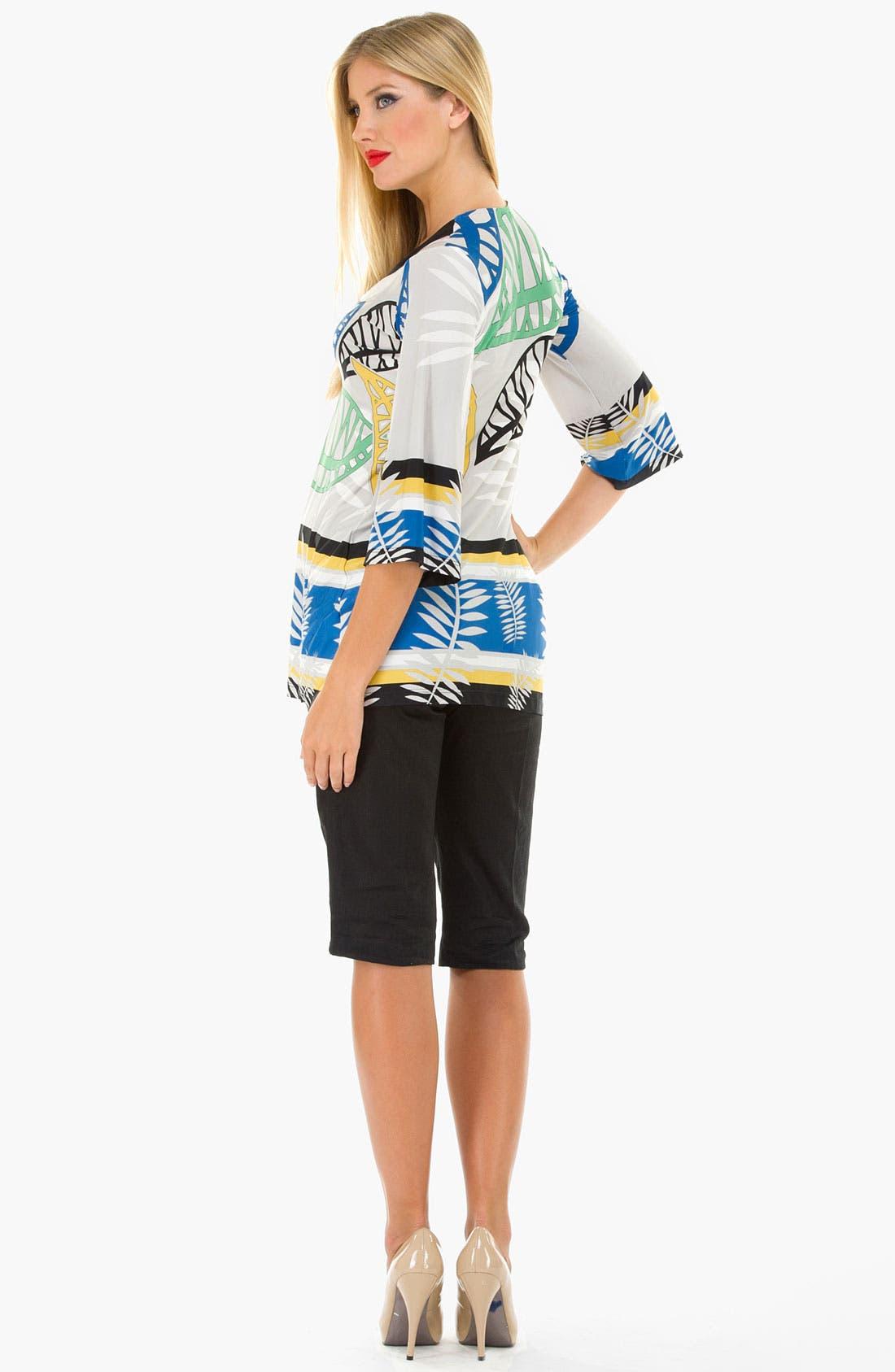 Alternate Image 3  - Olian Three Quarter Sleeve Maternity Tunic Top