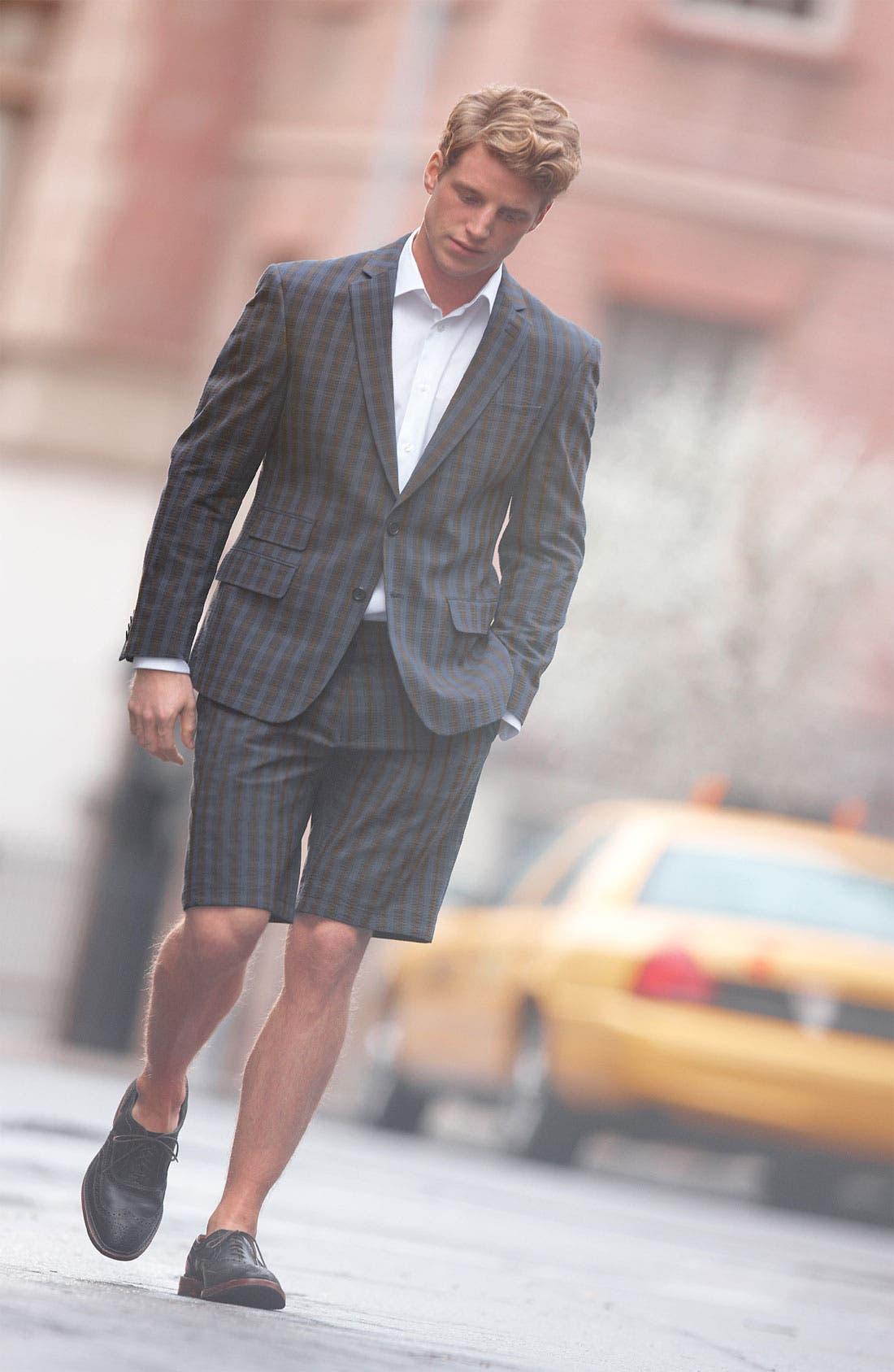 Alternate Image 4  - John Varvatos Star USA Red Label Seersucker Shorts