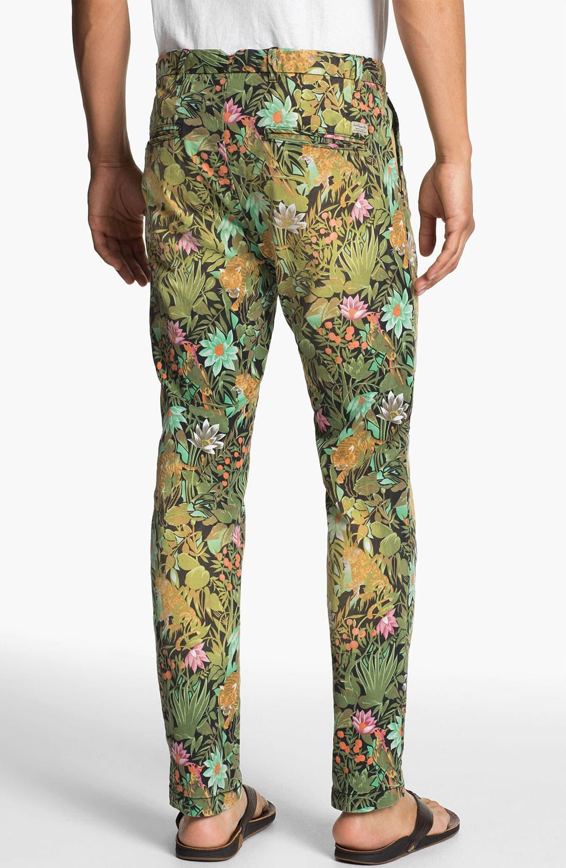 Alternate Image 2  - Scotch & Soda 'Bowie' Slim Straight Leg Floral Print Chinos