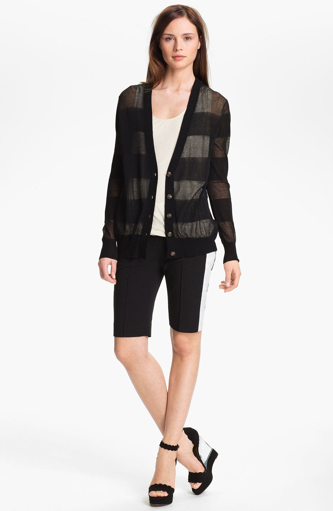 Alternate Image 2  - Halston Heritage Sheer Cardigan