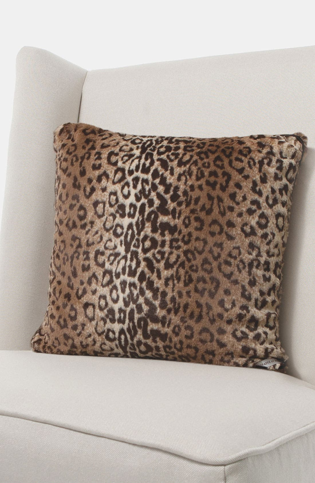 'Luxe Leopard' Throw Pillow,                             Main thumbnail 1, color,                             Espresso