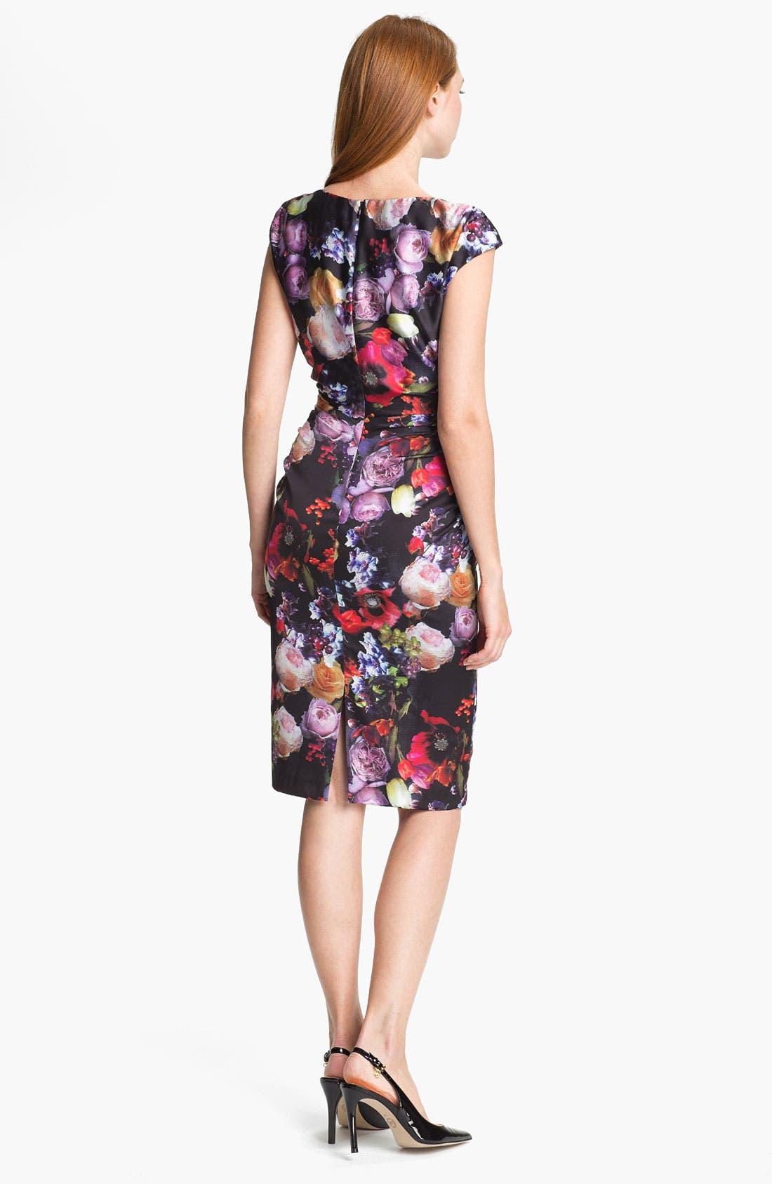 Alternate Image 2  - Ivy & Blu Print Sheath Dress
