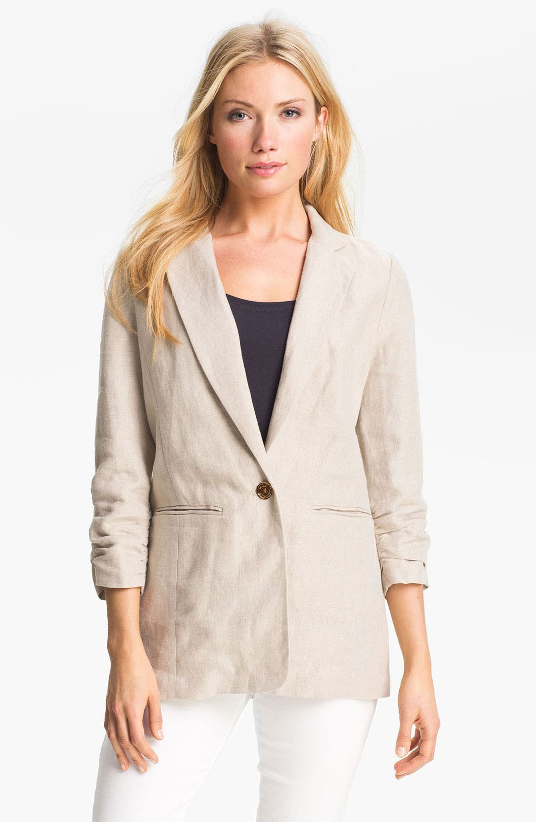 Main Image - MICHAEL Michael Kors Shirred Sleeve Jacket