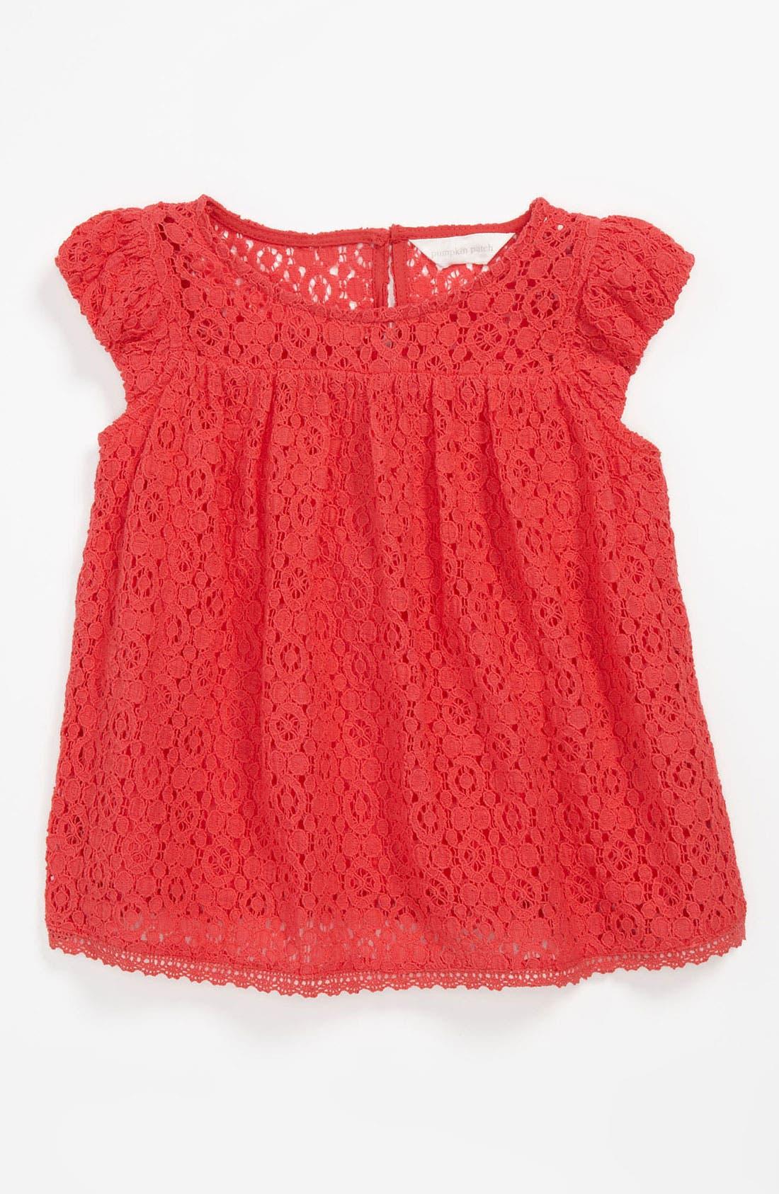 Main Image - Pumpkin Patch Lace Top (Toddler)
