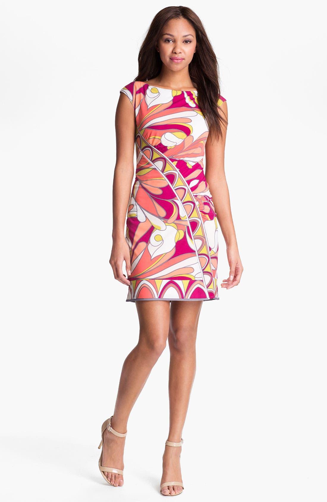 Main Image - Donna Morgan Print Jersey Sheath Dress