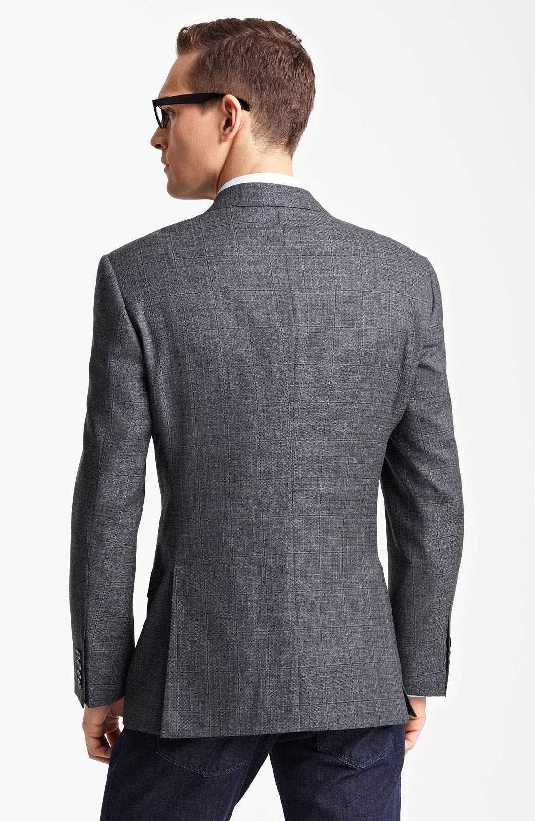Alternate Image 2  - Armani Collezioni Windowpane Wool & Silk Sportcoat