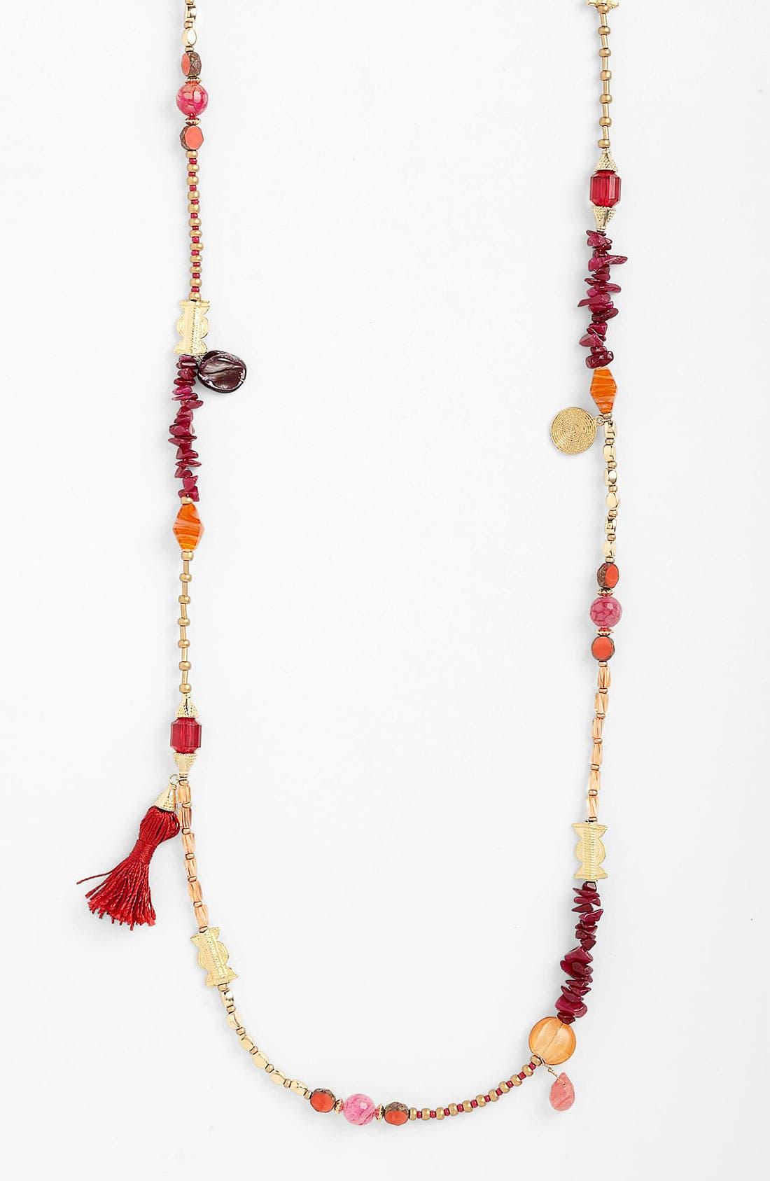 Main Image - Sara Bella Extra Long Beaded Necklace
