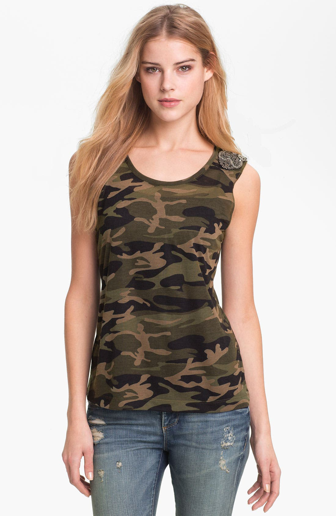 Alternate Image 1 Selected - KUT from the Kloth 'Luna' Camo Top