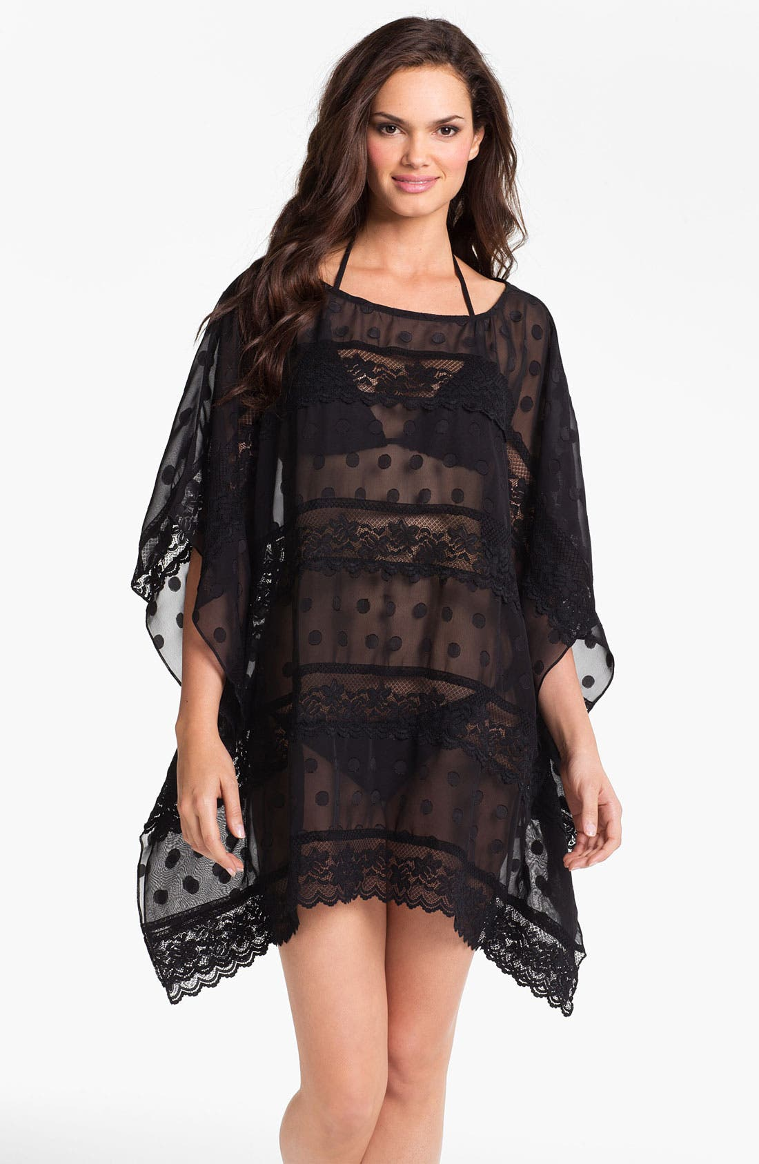 Alternate Image 1 Selected - Betsey Johnson 'Double Date' Tunic Cover-Up