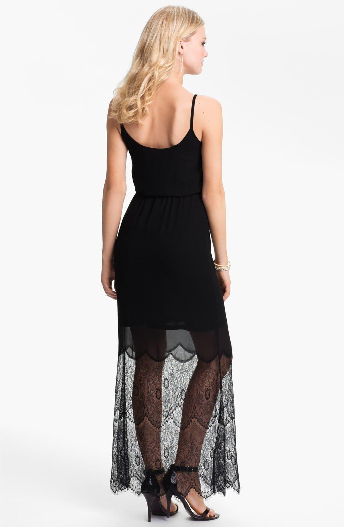 Alternate Image 2  - BLAQUE LABEL Mixed Media Maxi Dress