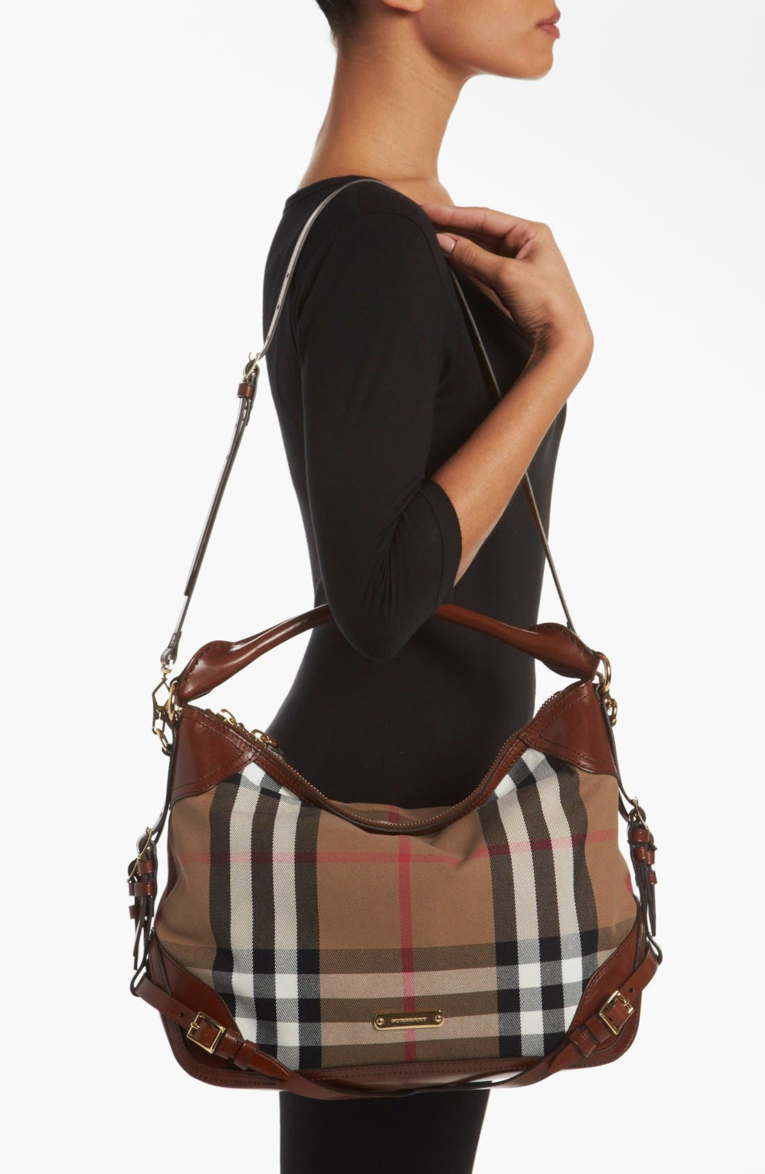 Alternate Image 2  - Burberry 'House Check - Small' Hobo
