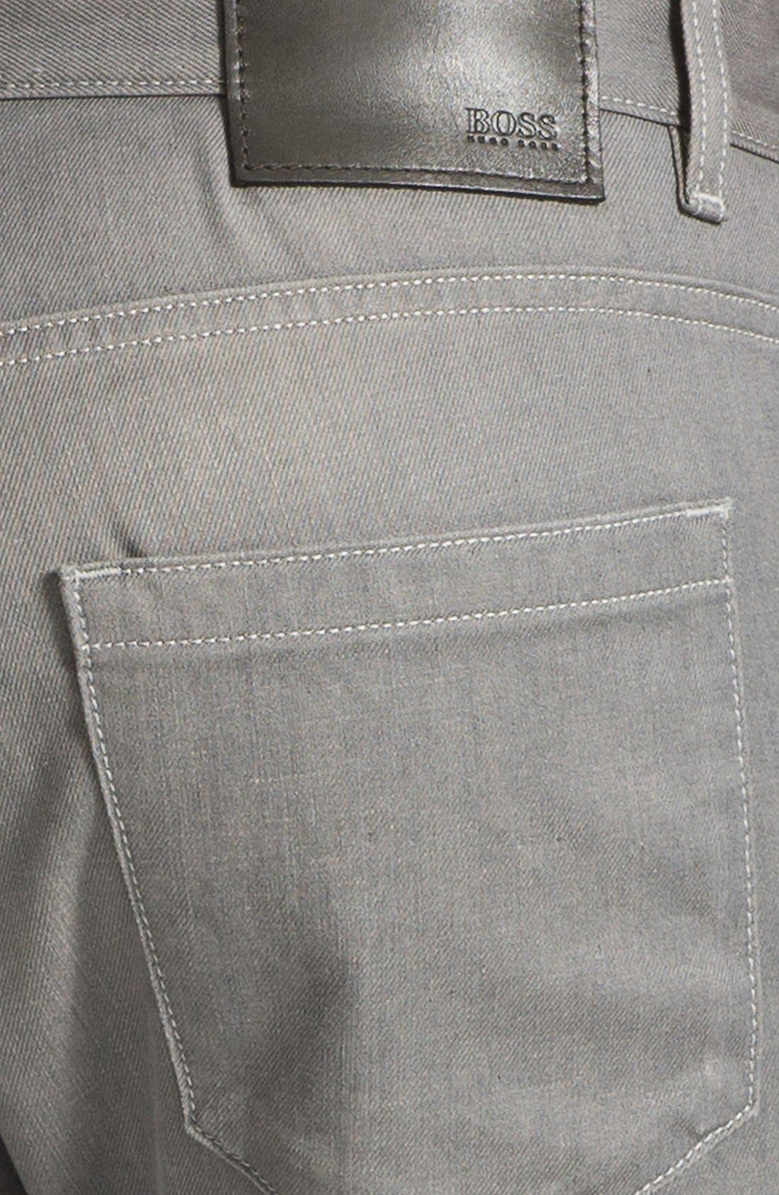 Alternate Image 4  - BOSS HUGO BOSS 'Delaware' Slim Fit Jeans (Grey Denim)