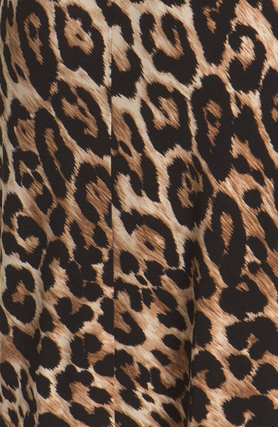 Alternate Image 3  - Chaus Knot Waist Leopard Print Dress