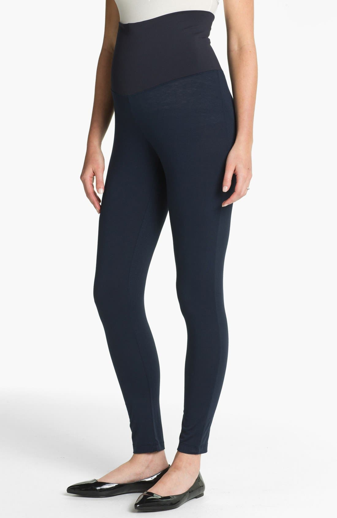Post Maternity Support Leggings,                         Main,                         color, Navy