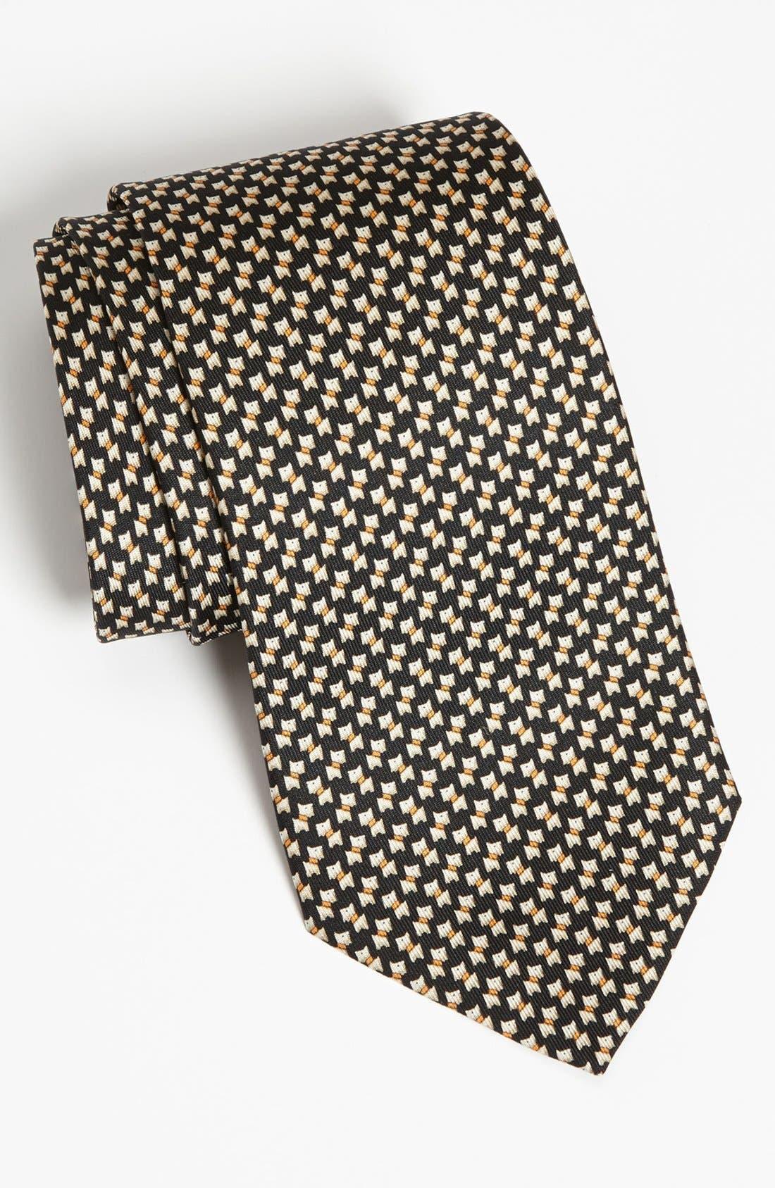 Main Image - Salvatore Ferragamo Scottie Print Silk Tie