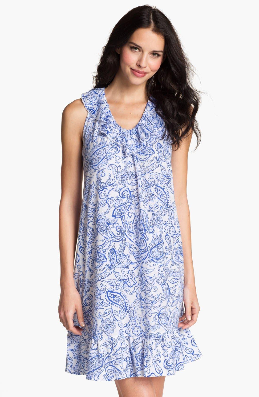 Main Image - Lauren Ralph Lauren Short Ruffle Nightgown