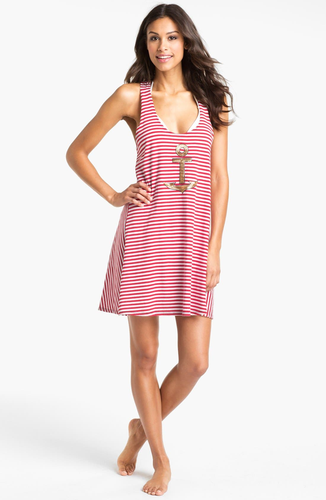 Alternate Image 1 Selected - Sperry Top-Sider® Stripe Knit Cover-Up Dress