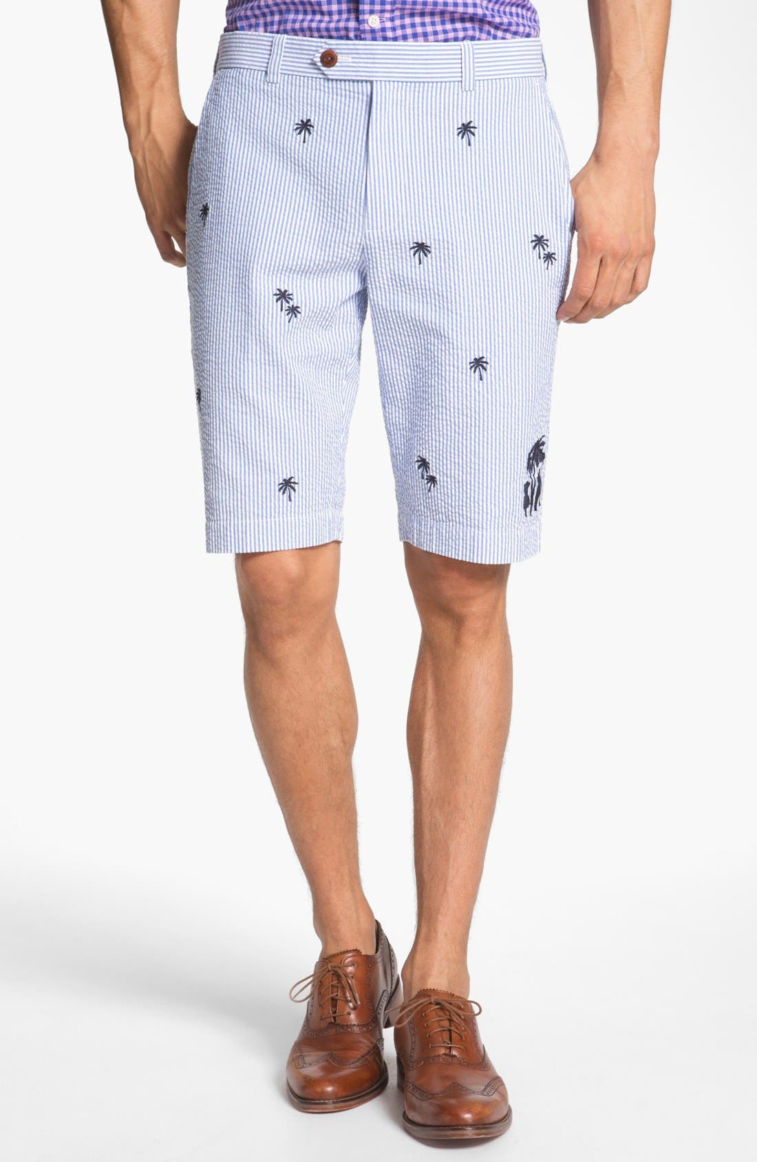 Alternate Image 1 Selected - Brooks Brothers 'Luau' Bermuda Fit Seersucker Shorts