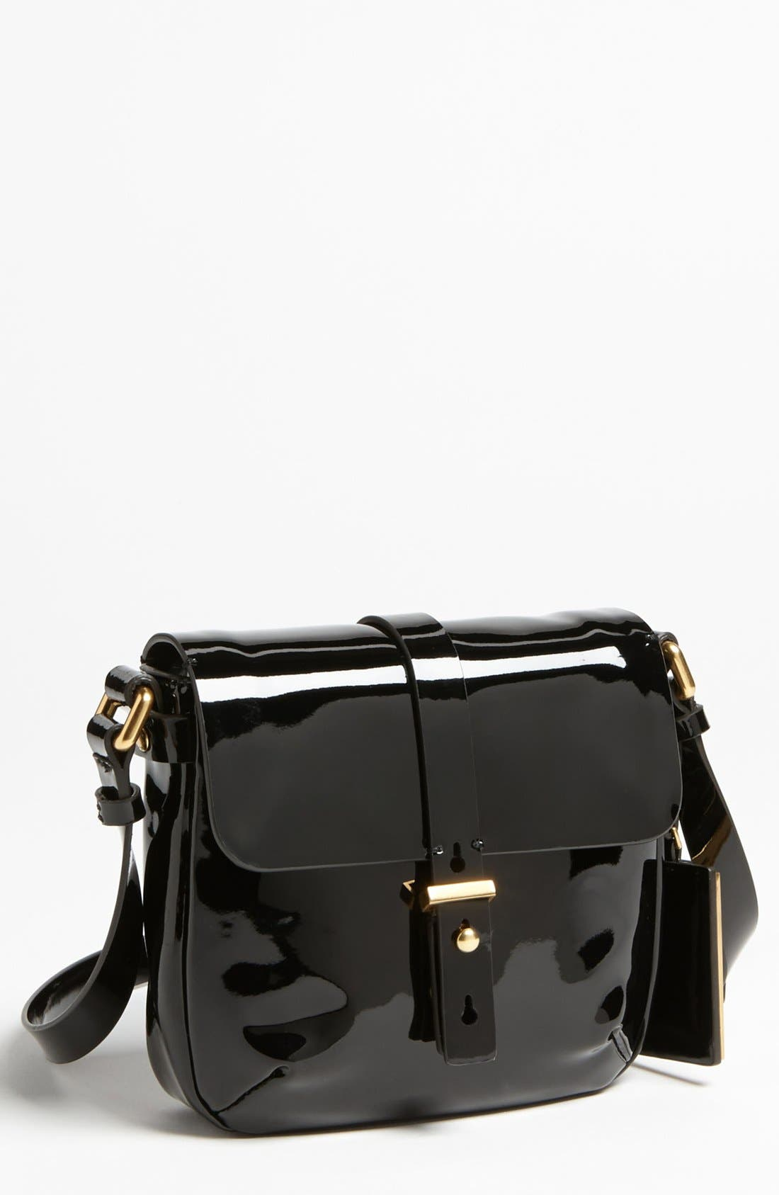 Alternate Image 1 Selected - MARC BY MARC JACOBS 'Werdie Patent - Isabella' Faux Leather Crossbody Bag