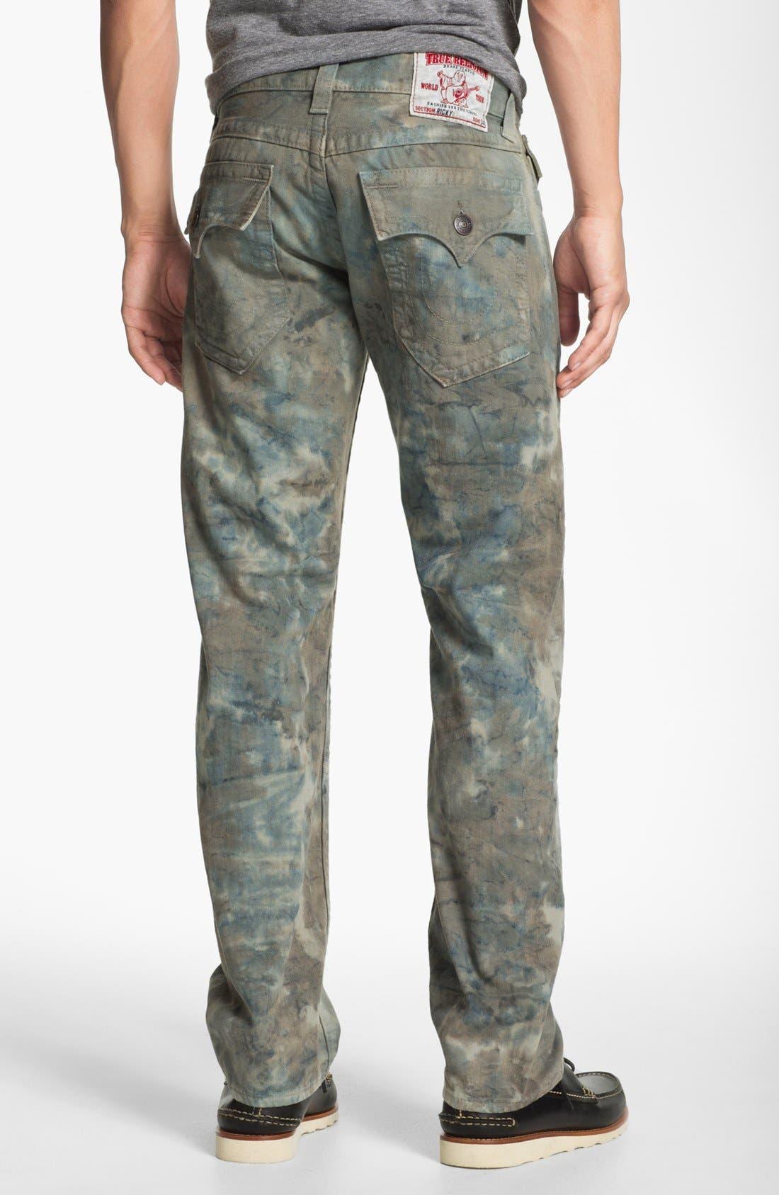 Main Image - True Religion Brand Jeans 'Ricky' Straight Leg Jeans (Olive)