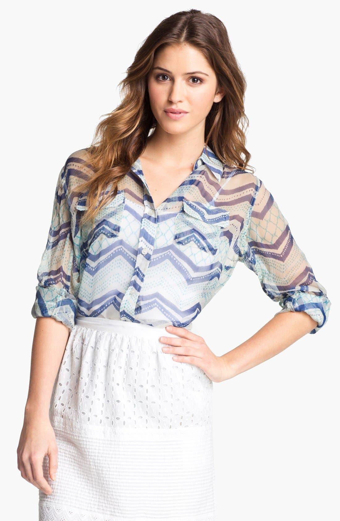 Alternate Image 1 Selected - Lucky Brand 'Jane - Terrenea Stripe' Blouse