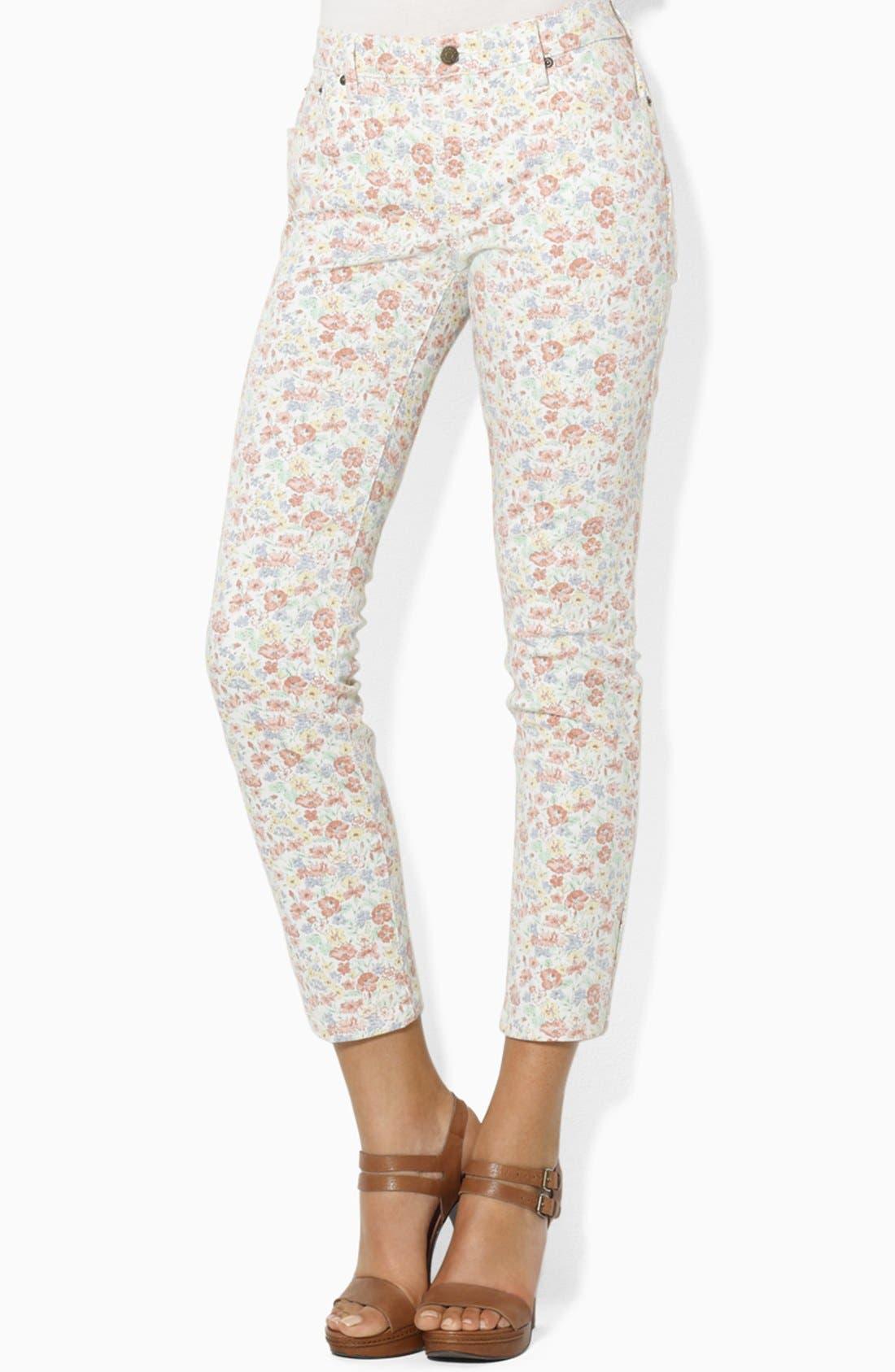 Alternate Image 1 Selected - Lauren Ralph Lauren Modern Skinny Ankle Pants (Petite)