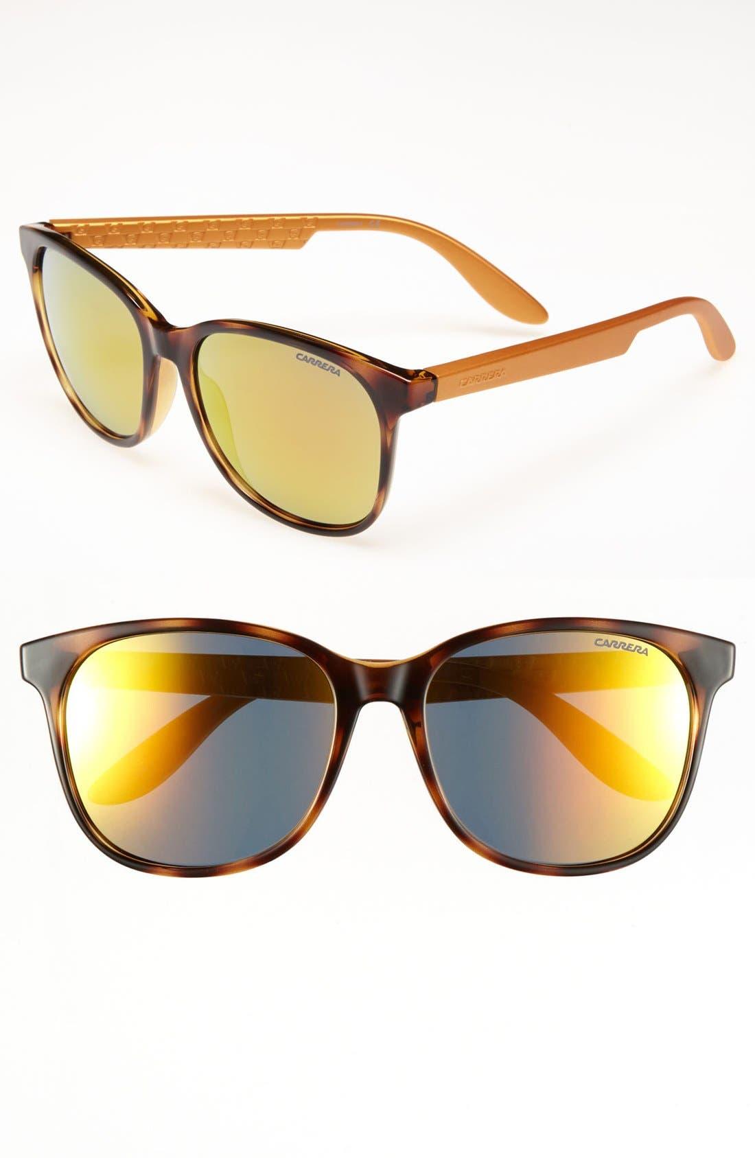 56 mm Sunglasses,                             Main thumbnail 1, color,                             Havana