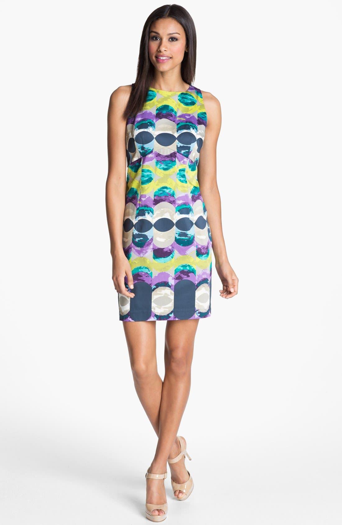 Alternate Image 1 Selected - Donna Morgan 'Kimmy' Print Satin Sheath Dress